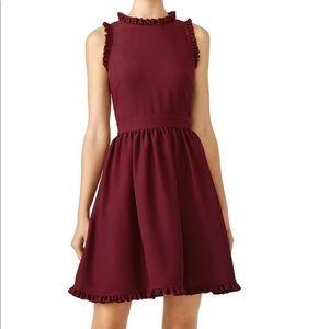 Kate spade ruffle fit n flare cherry dress 10